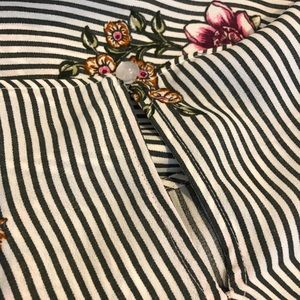 A. Byer Tops - A. Byer Floral Striped Long Sleeved Blouse